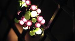 Grapes Light Decoration Stock Footage