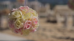 Flowers on the background of the wedding ceremony Stock Footage