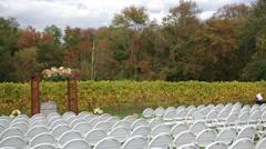 Empty Wine Vinyard Ceremony Stock Footage