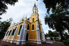 Church of Wat Niwet Thamma Prawat Stock Photos