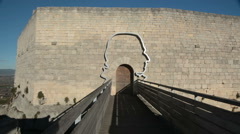 The entrance to the castle of the Marquis de Sade in Lacoste, France Stock Footage