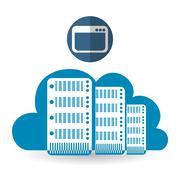 Cloud computing design. Trip icon. Flat illustration, technology vector - stock illustration