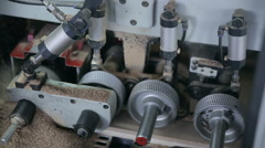 Woodworking mechanism. Circular sawing machine Stock Footage