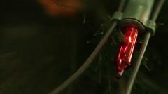 Flashing light garlands. macro. Stock Footage