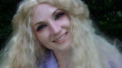4k Fantasy Shot of a Fairy Smiling and Posing at camera Stock Footage