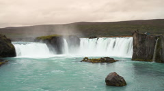 Godafoss waterfall in Iceland Stock Footage