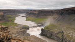 Hafragilsfoss waterfall in Iceland Stock Footage