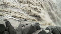 Dettifoss waterfall in Iceland Stock Footage