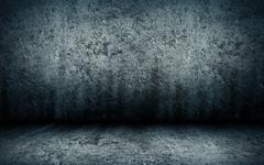 Abstract grunge interior of an empty room with a concrete floor and walls Stock Illustration
