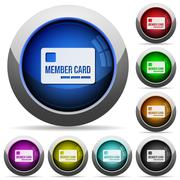 Member card button set Stock Illustration