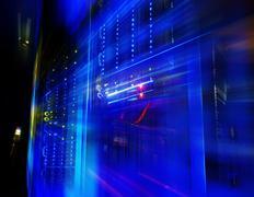 Fantastic view of mainframe in data center row Kuvituskuvat