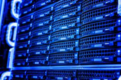 Series disk storage disks of the mainframe in data center Stock Photos