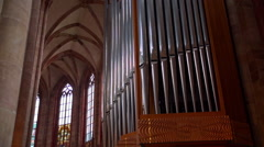 The pipe organ in the Church Stock Footage