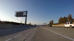 Los Angeles Century and Harbor Freeways Driving Time Lapse Stock Footage