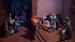 Biblical scenes the figures Stock Footage