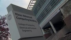 Klaus Advanced computing building sign Stock Footage