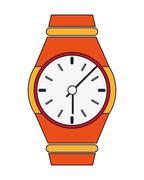 analog wristwatch icon - stock illustration