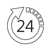 24 hour arrow icon Stock Illustration
