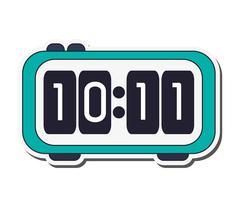 Digital alarm clock icon Stock Illustration