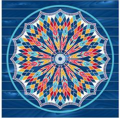 Mandala. Dreamcatcher. Ethnic decorative elements. Islam, Arabic Stock Illustration