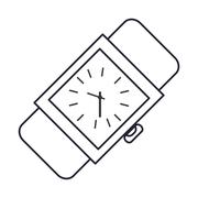 Analog wristwatch icon Stock Illustration
