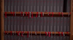 Songbooks in the Church Stock Footage