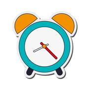 Analog alarm clock icon Stock Illustration
