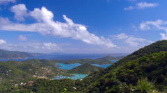 Panning shot of Coral Bay, St John and British Virgin Islands Stock Footage