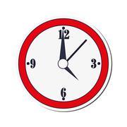 Wall clock icon Stock Illustration