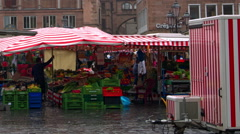 City market in Germany Stock Footage