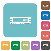 Flat RAM module icons Stock Illustration
