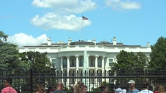 Washington - The White House with tourists. Stock Footage