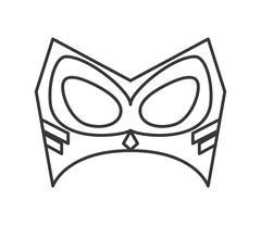 Superhero superman mask design Stock Illustration