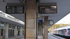 The train station of Vicenza, Veneto, Italy Stock Footage