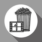 Film reel design , vector illustration, vector illustration Stock Illustration