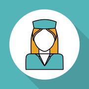 Nurse icon design , vector illustration, vector illustration Stock Illustration