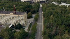 Novosibirsk, Akademgorodok, 2015: New building of the NSU aerial Stock Footage