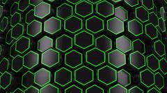 Animated Black Honeycombs Stock Footage