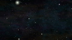 Moving through stars in space Stock Footage