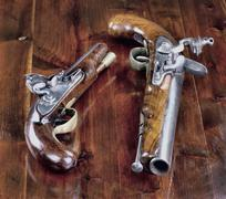 English Flintlock Pistols. Stock Photos