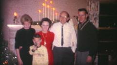 Family Celebrating Christmas Together-1962 Vintage 8mm film Stock Footage