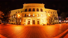 View of the University of Szeged Stock Footage