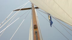 Sailboat Mast from Below Stock Footage