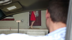 First Date Pickup Stock Footage