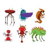 Alien monster vector illustration Stock Illustration