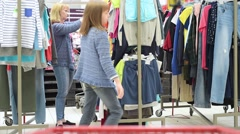 Mother and daughter shopping trip Stock Footage