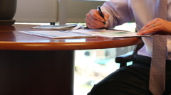 Corporate Male Employee taking notes Stock Footage