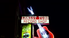 Ernest Tubb Record Shop in Nashville - famous venue of Opry stars Stock Footage