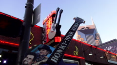 Famous Honky Tonk Guitar on Broadway in Nashville Tennessee Arkistovideo