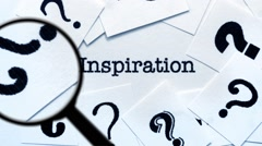 Magnifying glass on inspiration Stock Footage